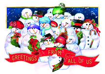 Frosty Crew Holiday Cards